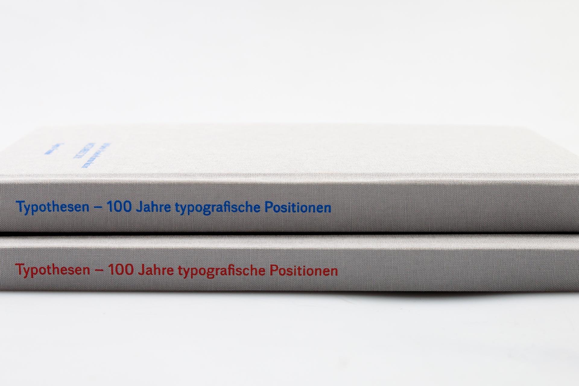Typothesen — zwei Bücher, ein Inhalt, zwei visuelle Konzepte
